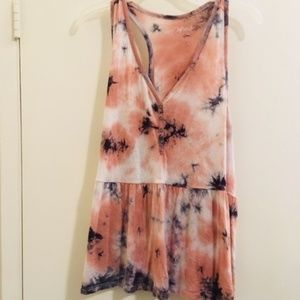 In age refresh Pink tank tie-dye Sz XL